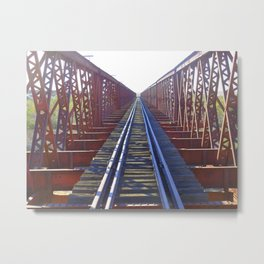 Abandoned railway tracks Metal Print