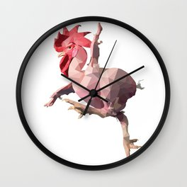 Naked Chicken (Low Poly Design) Wall Clock