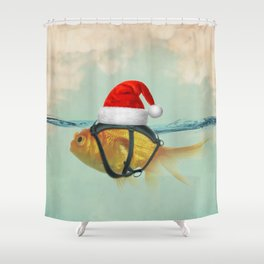 A Brilliant Disguise Christmas Shower Curtain