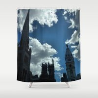 philadelphia Shower Curtains featuring Philadelphia by Julie Maxwell
