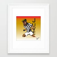 juventus Framed Art Prints featuring MusclePogba by Miguel Angel Illustrations
