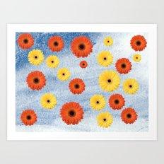 Orange & Yellow Gerberas Art Print