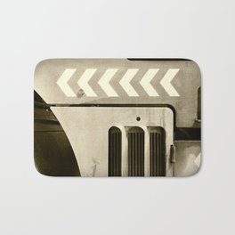 Road Roller Chevron 05 - Industrial Abstract Bath Mat