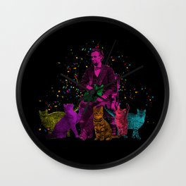 Preposterous Presidents - Lincoln - Rainbow Cat Party Wall Clock