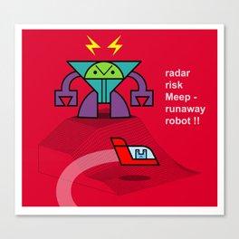 Meep's Risky Rocket Race Canvas Print