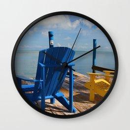 Beach Chairs Wall Clock