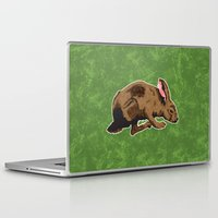 hare Laptop & iPad Skins featuring Hare by Skekfaer