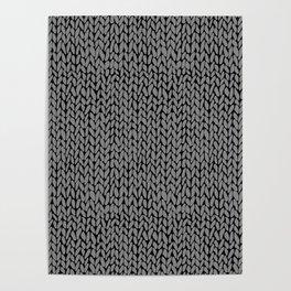 Hand Knit Dark Grey Poster