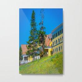 Yellowstone Lake Hotel Print Metal Print
