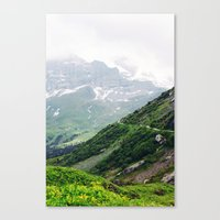 switzerland Canvas Prints featuring Switzerland by Tana Helene