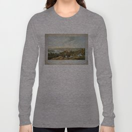 Vintage Pictorial Map of Georgetown (1855) Long Sleeve T-shirt