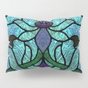 Aqua Green and Blue Art Nouveau Stained Glass Design by patriciannek