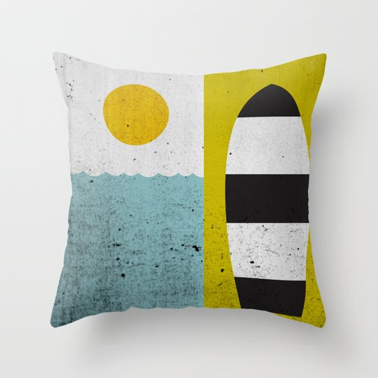 Sun & Board Throw Pillow