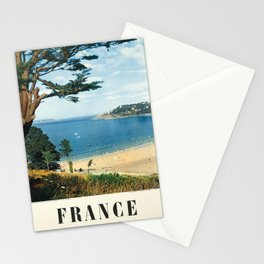 france les plages de bretagne vintage Poster Stationery Cards