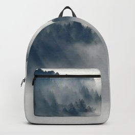 Mountain Fog and Forest Photo Backpack