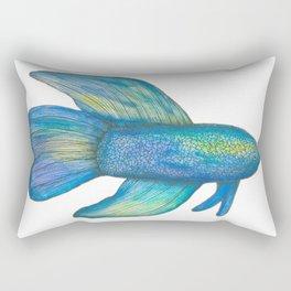 Betta fish blue green Rectangular Pillow