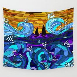 Golden Sails Wall Tapestry