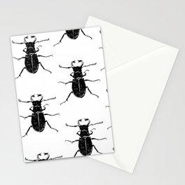 MINIMAL + MONOCHROME BEETLE PATTERN Stationery Cards