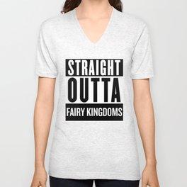Straight Outta Fairy Kingdoms Unisex V-Neck