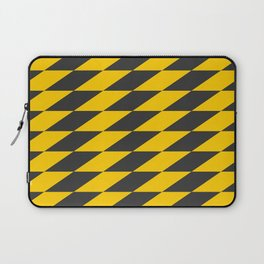Slanted Checkers Black & Yellow Laptop Sleeve