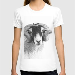 Black and which moorland sheep T-shirt