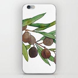 Olive leaf iPhone Skin