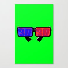 Green Screen 3D Canvas Print