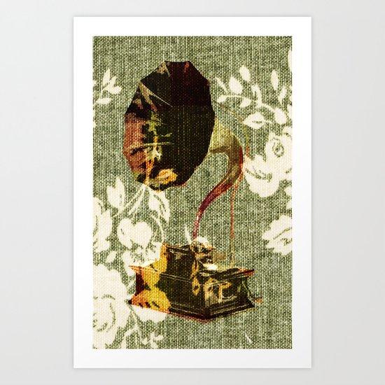 Dueling Phonographs I Art Print