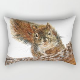 Cheeky the Red Squirrel by Teresa Thompson Rectangular Pillow