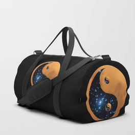 Yin Yang Full Moon and stars Duffle Bag
