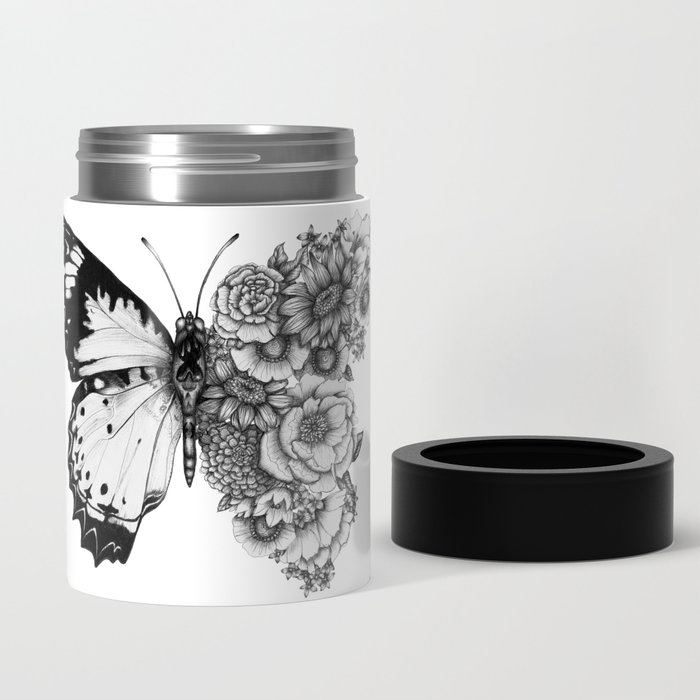 Butterfly in Bloom Can Cooler