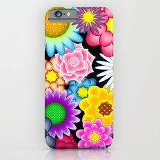 Bright Floral on Black iPhone 6s Slim Case