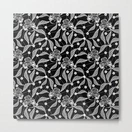 White vintage lace . Metal Print