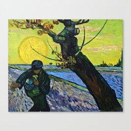 Vincent Van Gogh - Sower Canvas Print
