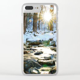 Wintry Light Clear iPhone Case