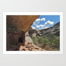 Anasazi Dwelling, Natural Bridges National Monument Art Print