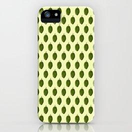 Hops Light Yellow Pattern iPhone Case
