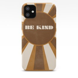 Be Kind brown iPhone Case