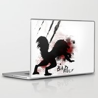 bad wolf Laptop & iPad Skins featuring Bad wolf by Halopromise