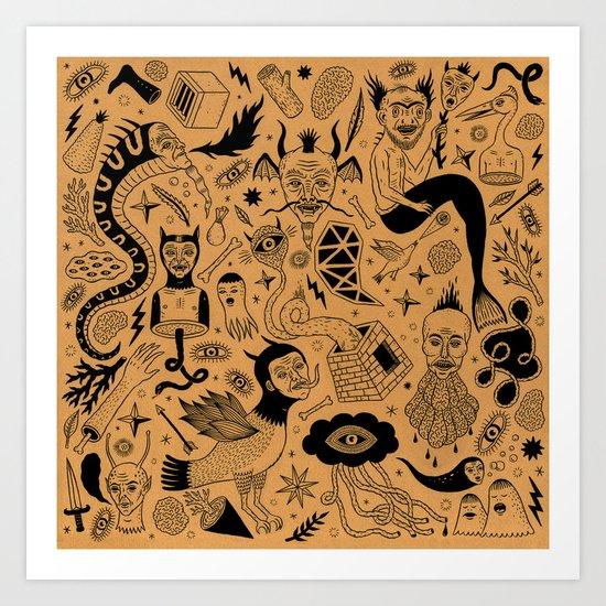 Curious Collection No. 1 Art Print