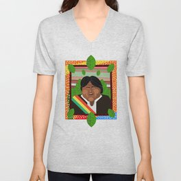 Evo Morales Unisex V-Neck