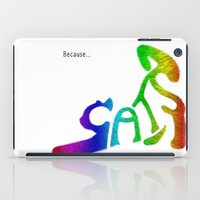 because cats iPad Cases featuring Because... Cats by J ō v