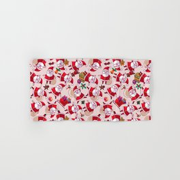 Santa Gift Pattern Hand & Bath Towel