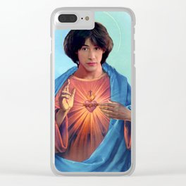 Saint Ted Theodore Logan Clear iPhone Case