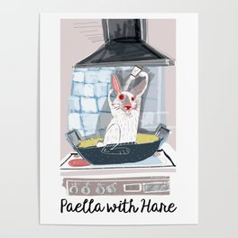 Paella with Hare Poster