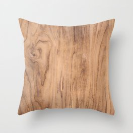 Wood Surface Throw Pillow