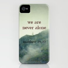 We Are Never Alone Slim Case iPhone (4, 4s)