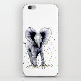 Confetti Elephant iPhone Skin