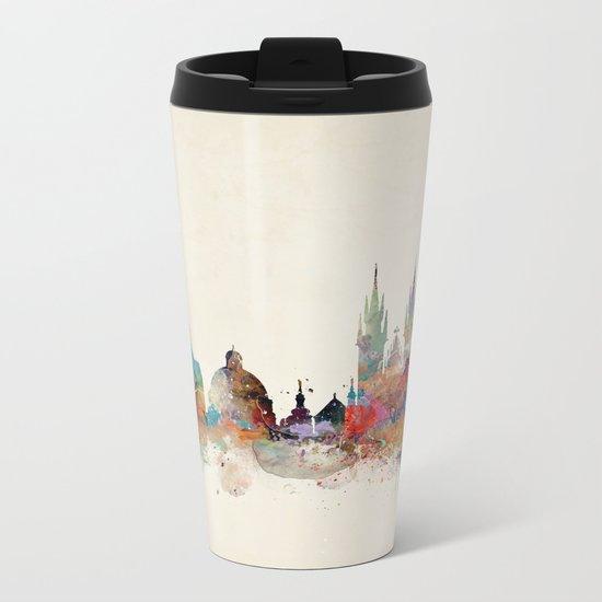 Barcelona city skyline Metal Travel Mug