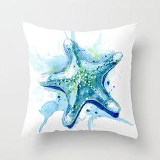 Starfish Waters II Throw Pillow